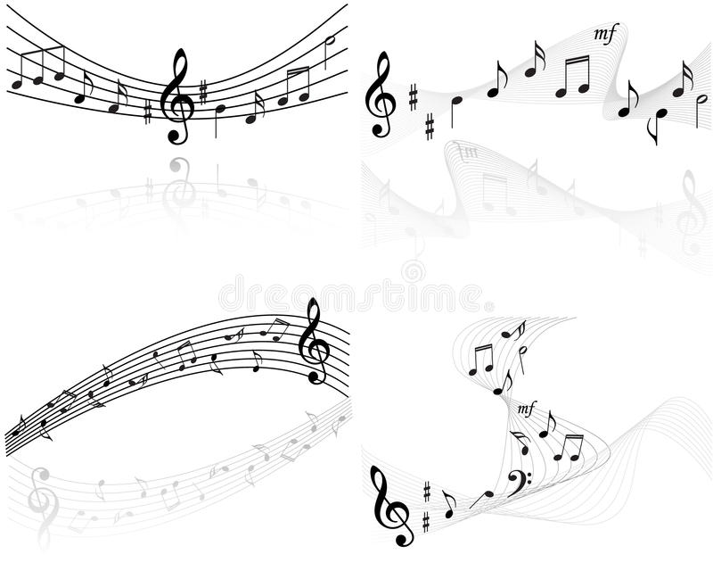 Music notes vector backgrounds stock illustration
