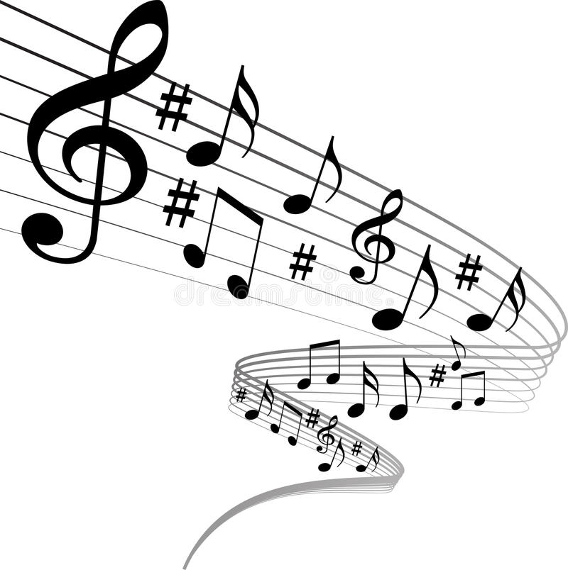 Music notes. Vector illustration of music notes