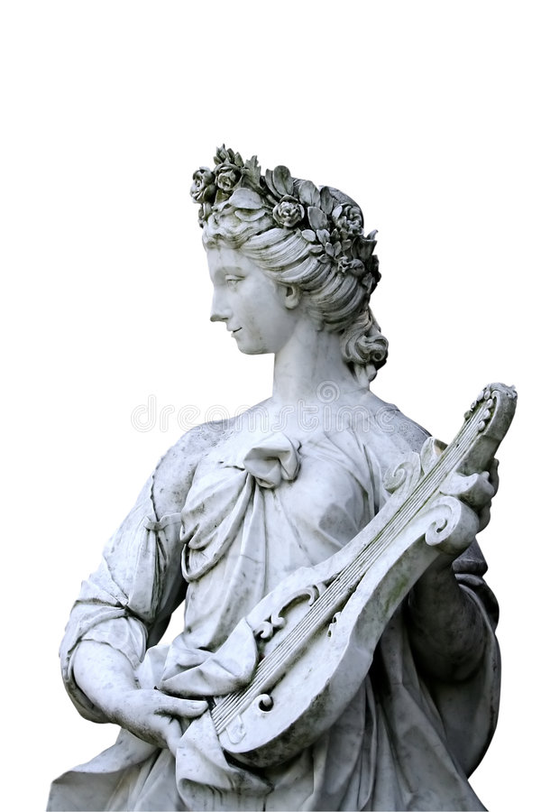 Music Nymph's Statue royalty free stock photography