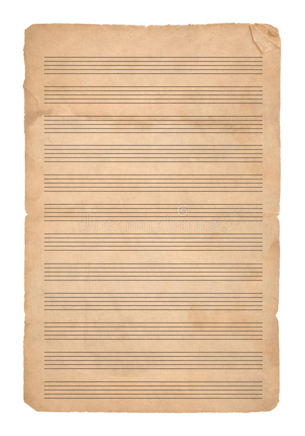 Music paper royalty free stock photo