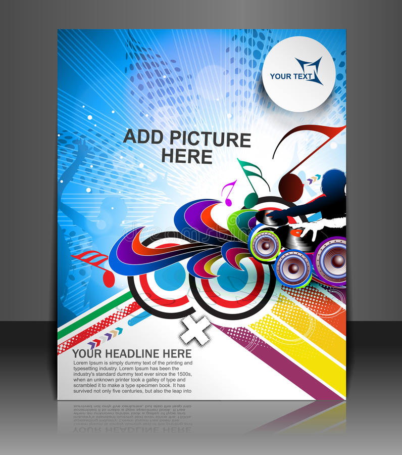 Free Music Party Flyer Royalty Free Stock Photos - 39124048