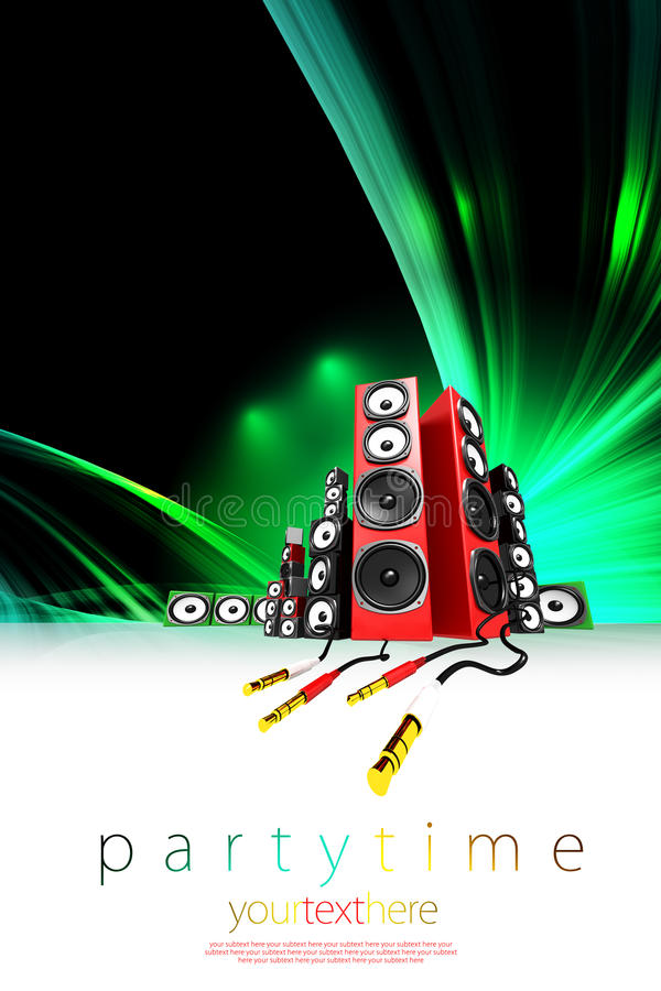 Download Music Party Poster Template Stock Illustration - Image: 18481469