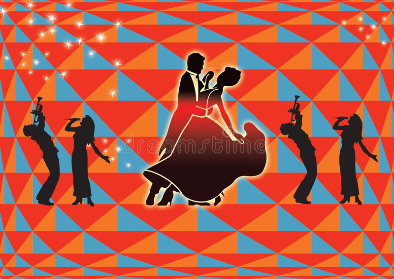 Music passion. Disco and music passion range with fancy ground stock illustration