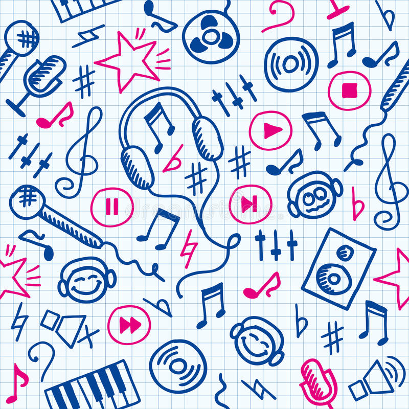 Download Music pattern stock vector. Image of backdrop, lesson - 20623803