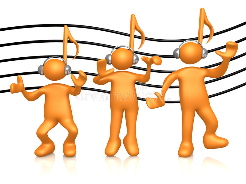 Music People stock illustration