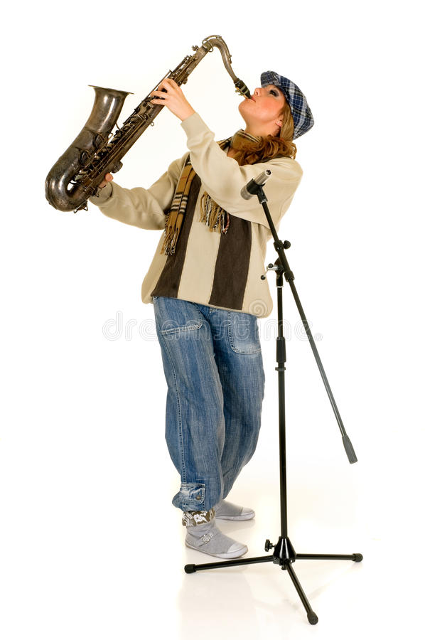 Download Music performer, saxophone stock image. Image of music - 9472939