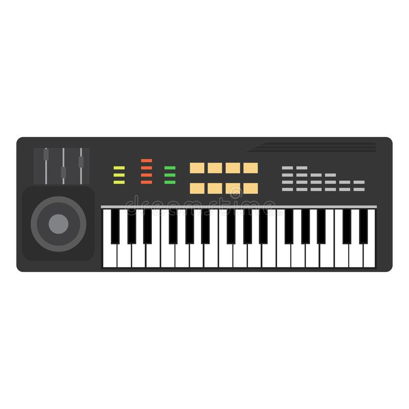 Music piano keyboard vector. Background musical illustration key royalty free illustration
