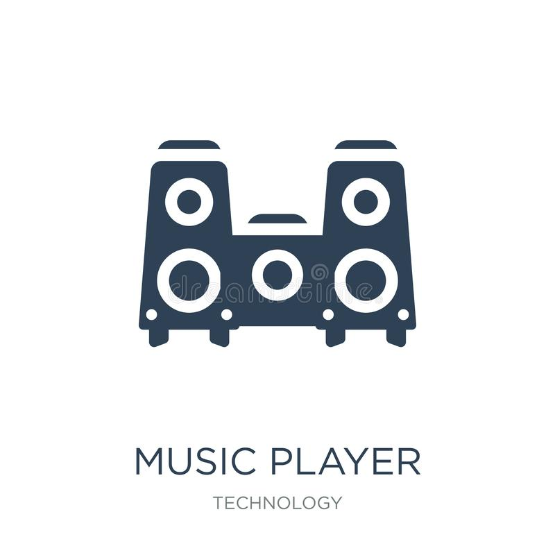 music player big speaker icon in trendy design style. music player big speaker icon isolated on white background. music player big stock illustration