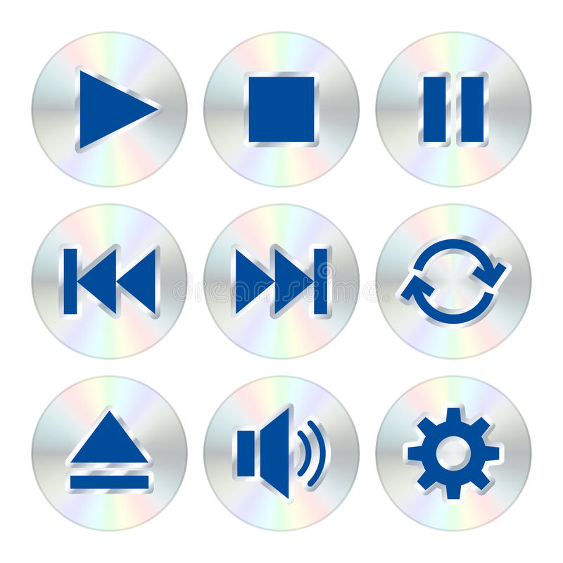 Music player buttons vector illustration