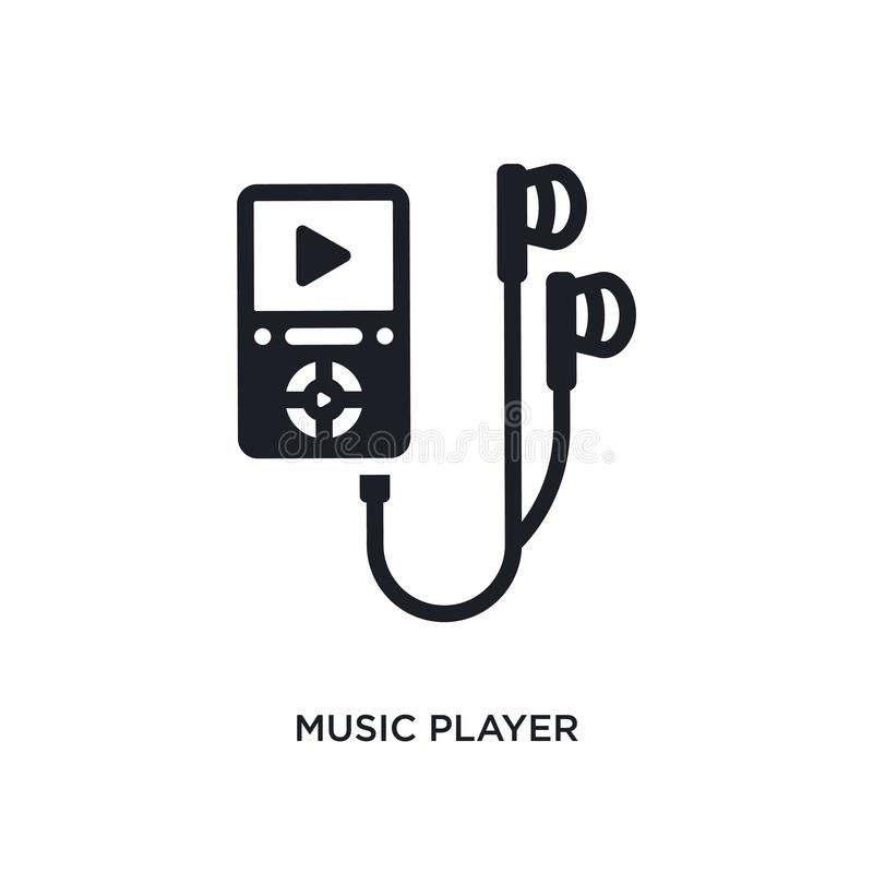 Music player isolated icon. simple element illustration from electronic devices concept icons. music player editable logo sign. Symbol design on white vector illustration