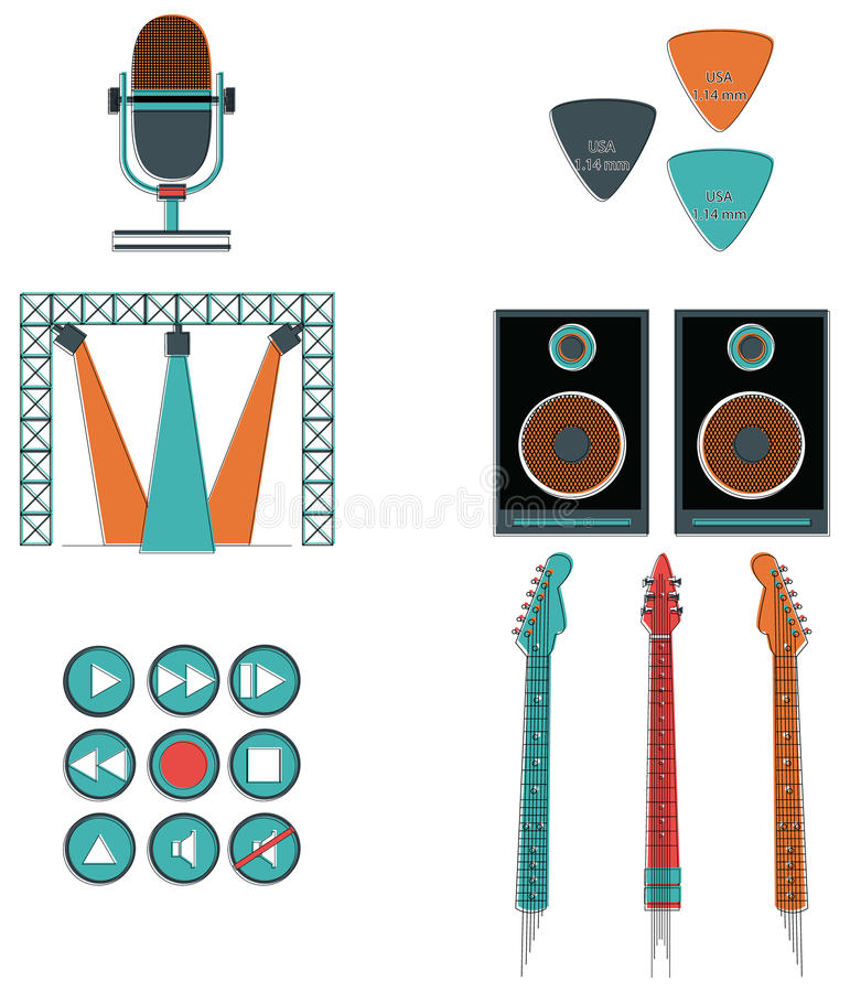 Free Music Players And Components Vol 2 Royalty Free Stock Images - 53182109