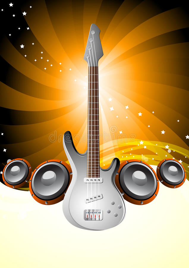 Download Music poster stock vector. Image of background, guitar - 16147524