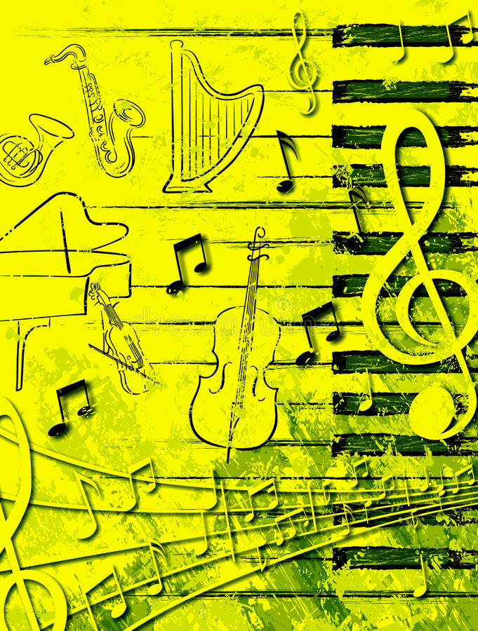 Download Music poster stock illustration. Image of note, performance - 25498509