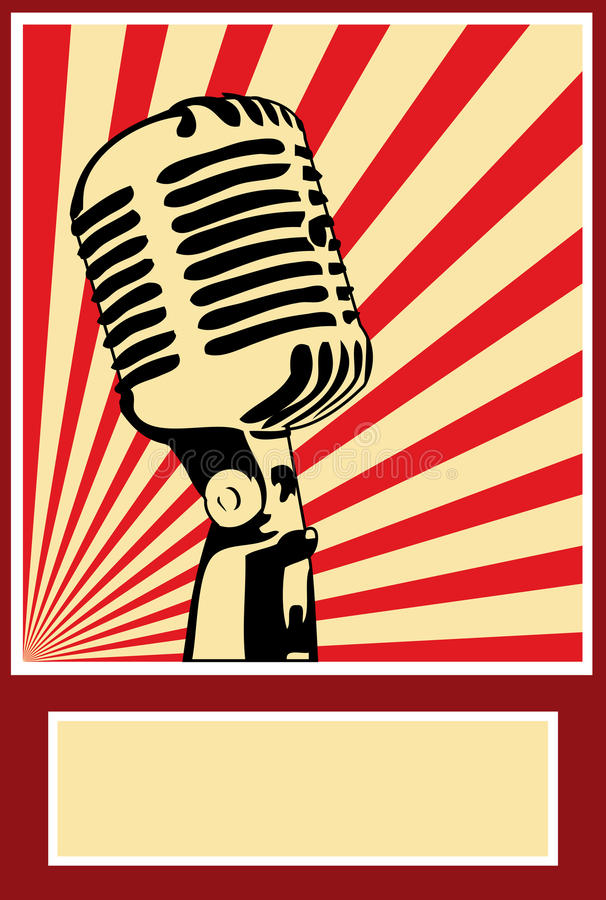 Music Poster Microphone. Poppaganda Art stock illustration