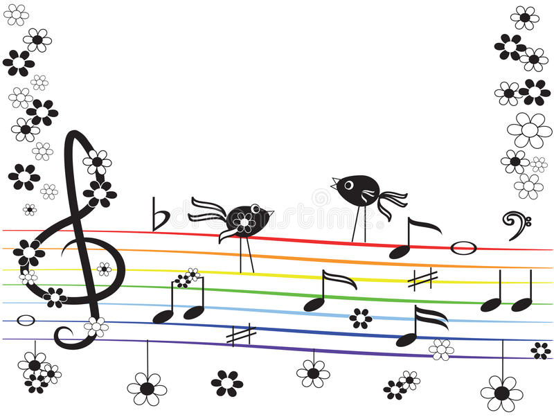 Download Music rainbow stock vector. Image of listening, pattern - 19679436