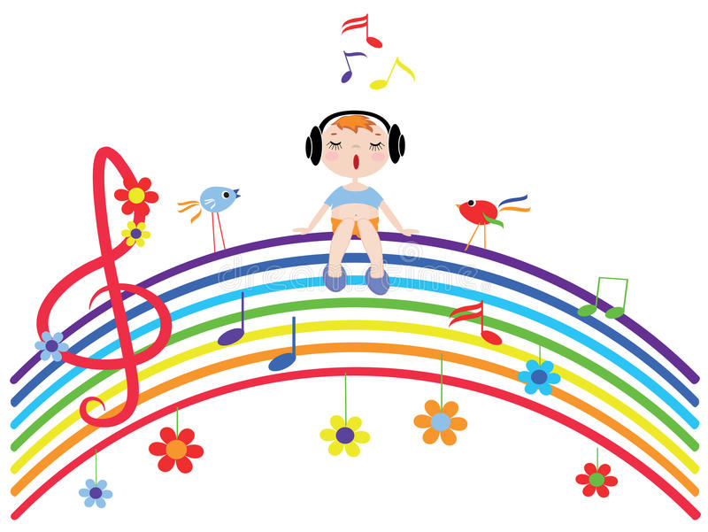 Music Rainbow Stock Vector. Illustration Of Bird, Colorful