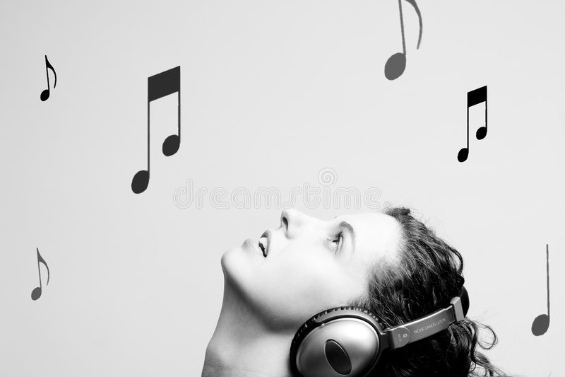 Music raining royalty free stock photos
