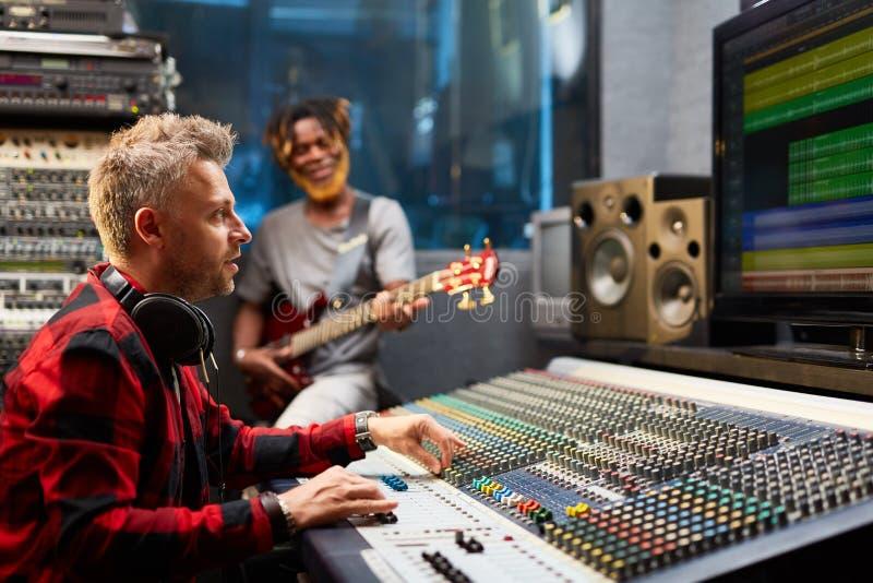 Music recording royalty free stock photos