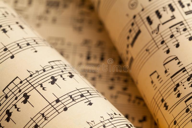 Music Rolls stock images