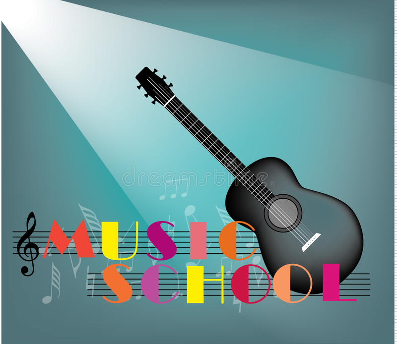 Music School vector illustration