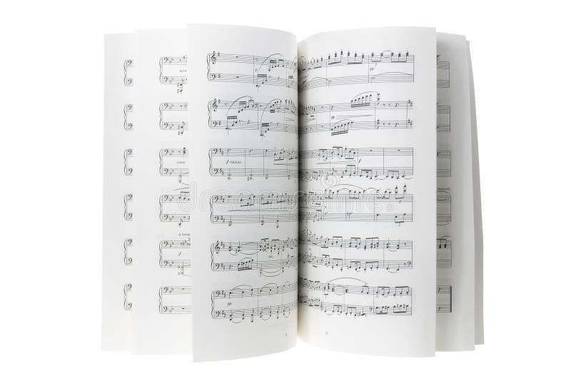 Music Score. On White Background stock photography