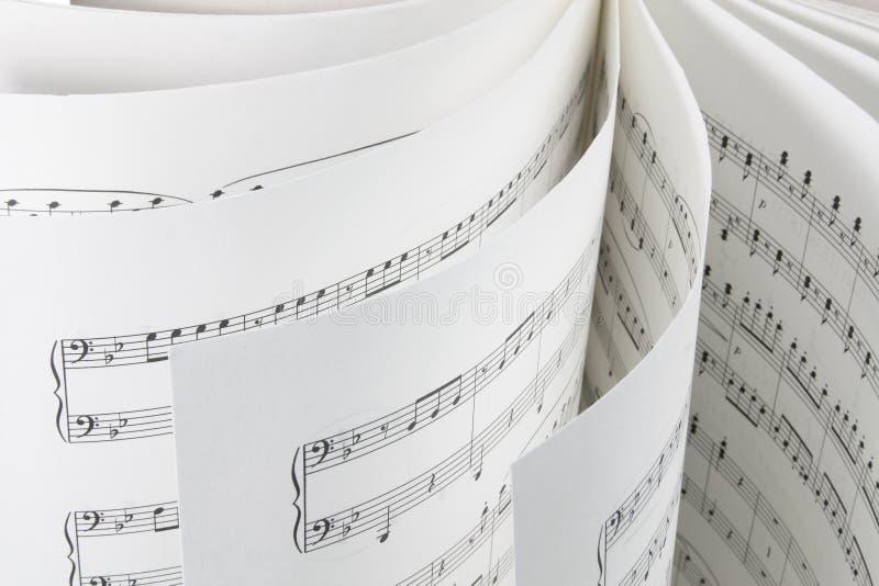 Music Score. Close Up of Music Score royalty free stock photography