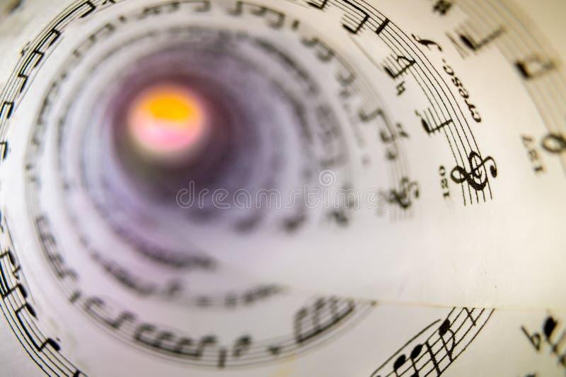Music score as a cone royalty free stock photos