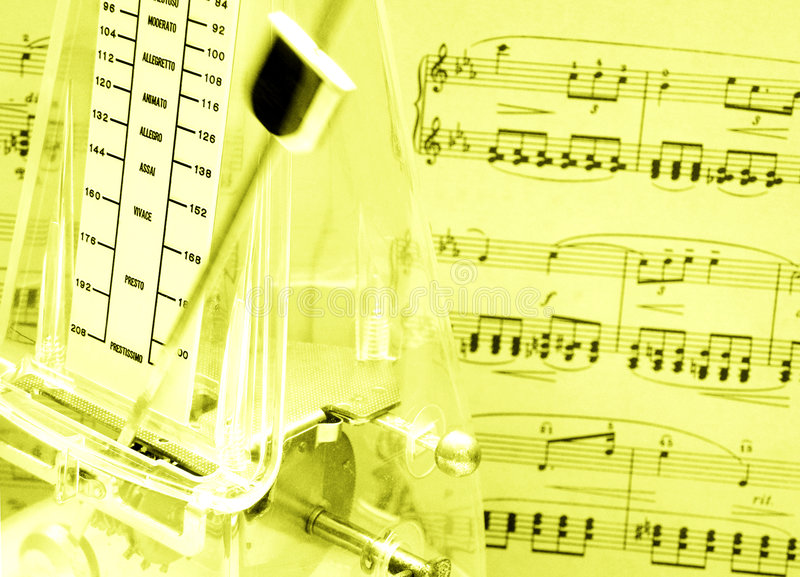 Download Music score, metronome stock image. Image of gold, love - 6331197