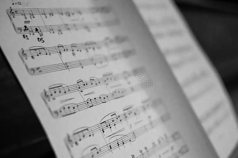 Music score sheet. Paper with a music score sheet royalty free stock images