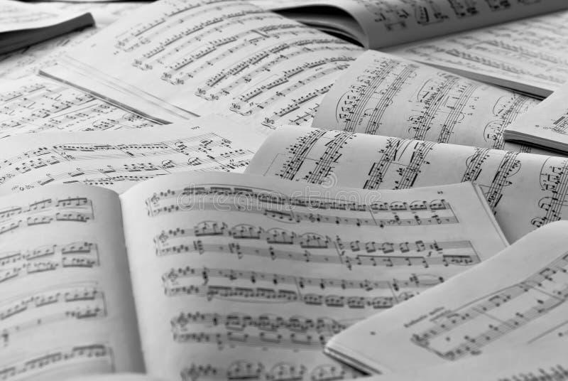 Music scores stock image