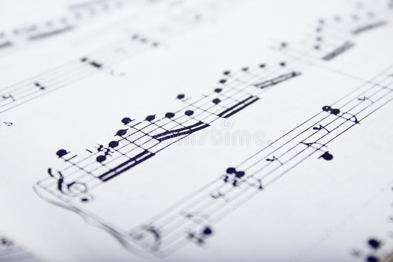 Music scores royalty free stock images