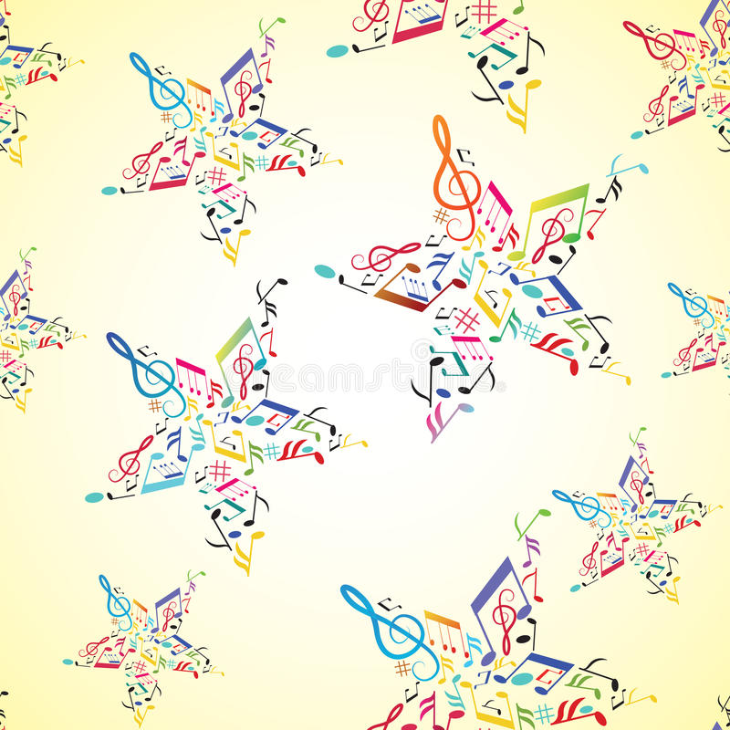 Download Music Seamless Background With Note Inside Star Stock Vector - Illustration: 18072825