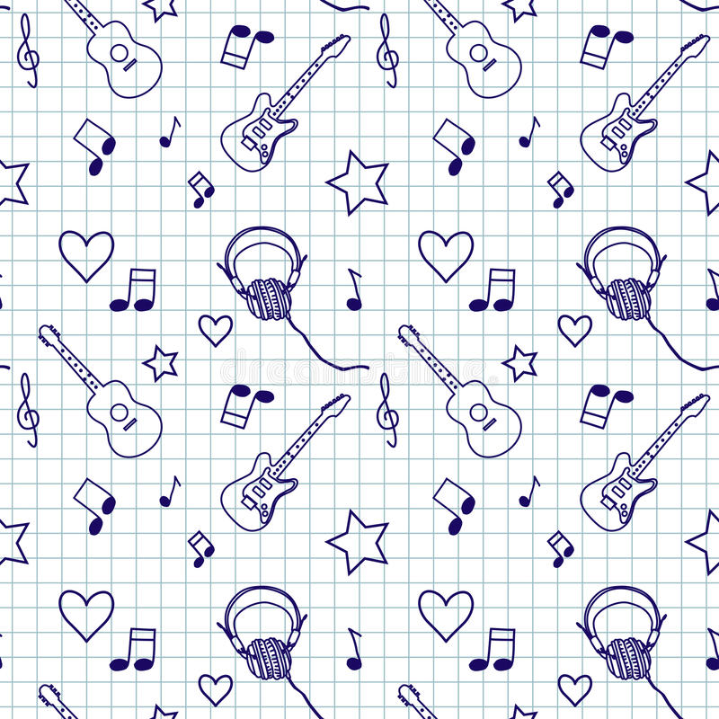 Music seamless pattern stock illustration