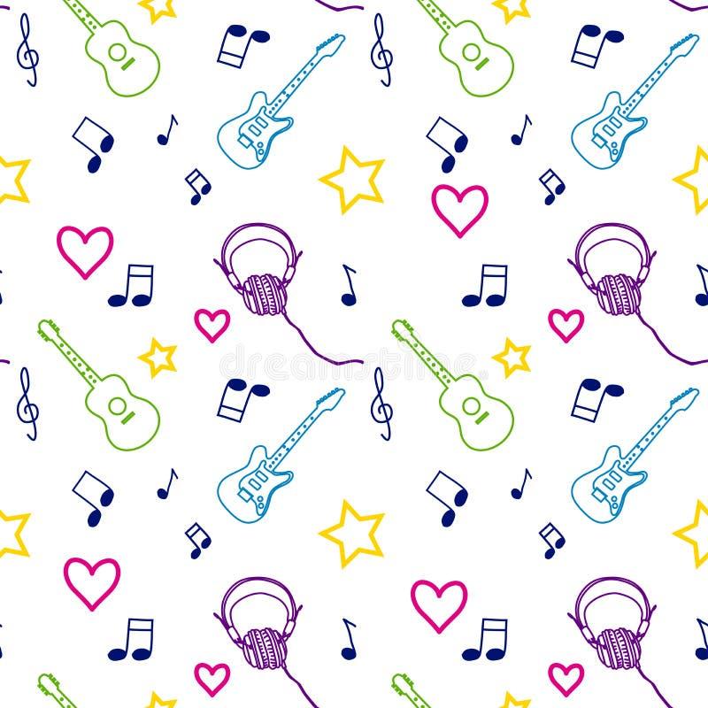 Music seamless pattern vector illustration