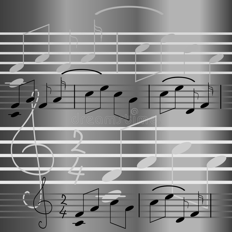 Music seamless wallpaper royalty free illustration