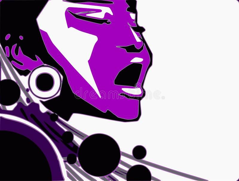 Download Singer Woman Music Jazz Blues Comics Cartoon Stock Illustration - Illustration: 7526574