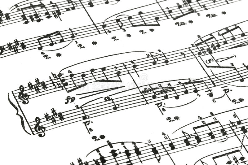 Music sheet stock images