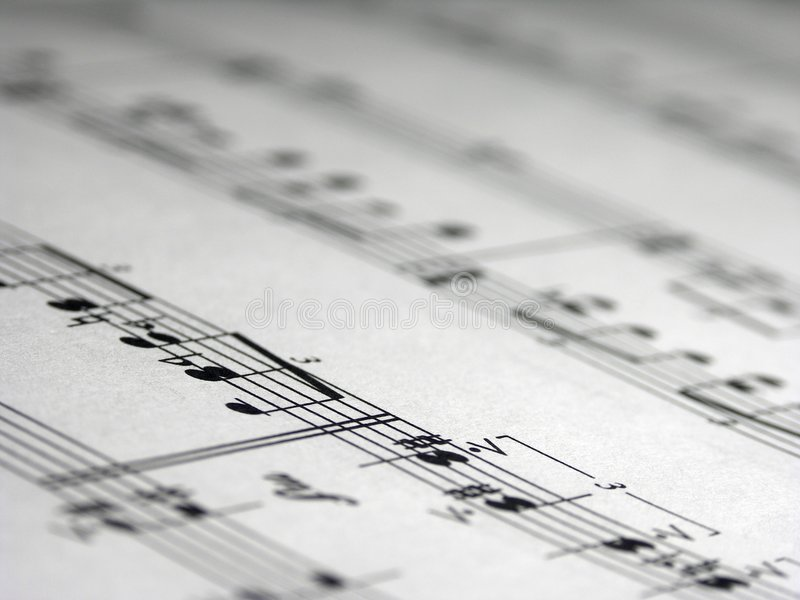 music sheet royaltyfri foto