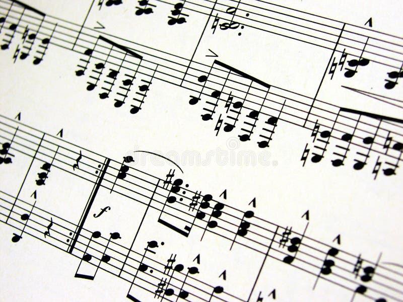 Music sheet. Detail stock photo