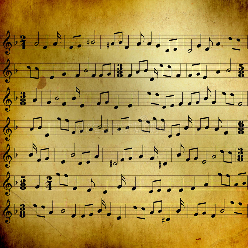 Music sheet with notes royalty free stock photography
