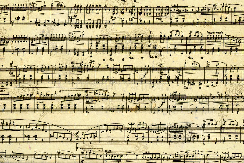 Music sheet page. Old music sheet page - art background vector illustration