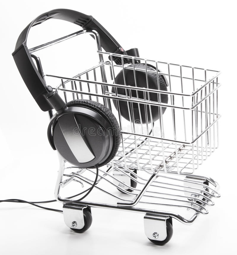Download Music Shopping stock image. Image of headphones, shop - 23121211