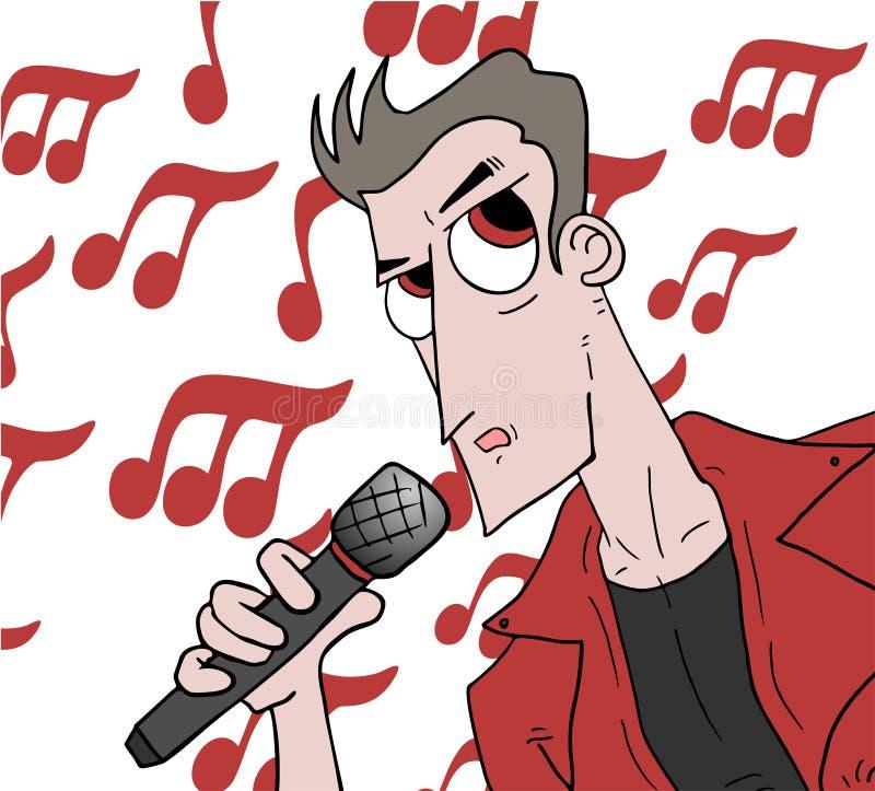 Music show man. Creative design of music show man stock illustration