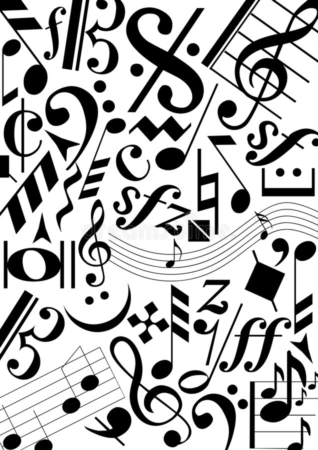 Download Music signs stock vector. Illustration of sound, background - 5445129