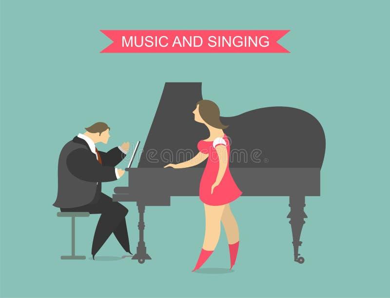 Music and singing royalty free illustration