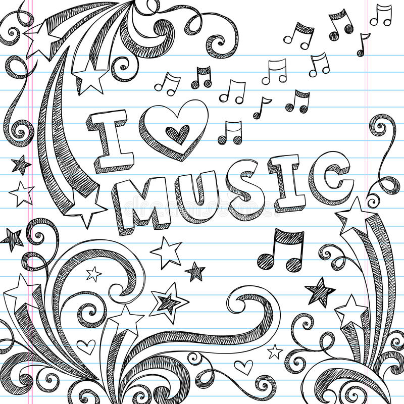 Download Music Sketchy Notebook Doodles Vector Illustration Stock Vector - Image: 27039392