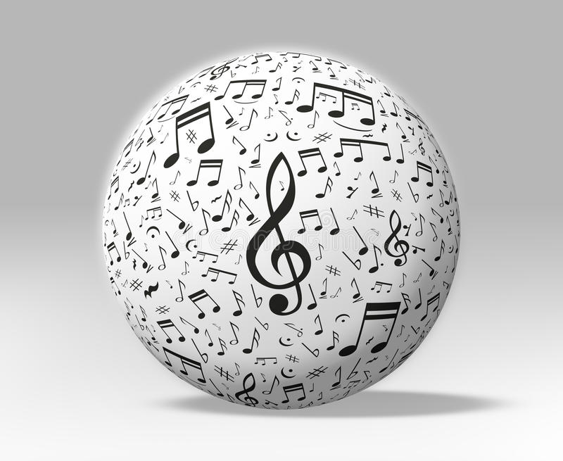 Music And Sound Globe Isolated Stock Photos