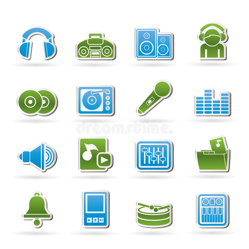 Download Music and sound Icons stock vector. Illustration of folder - 23279487