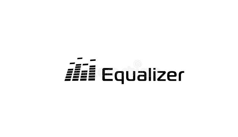 Music sound wave logo, audio digital equalizer technology, console panel, pulse musical, vector illustration. vector illustration