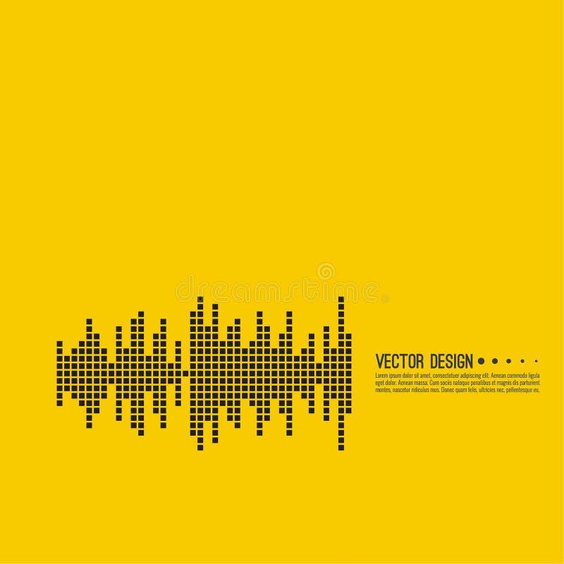 Music sound wave. stock illustration
